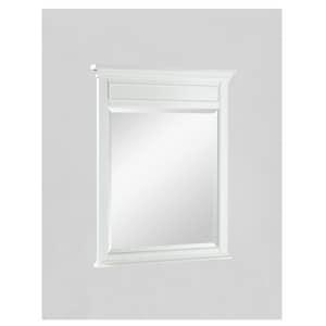 Fairmont Designs Framingham 34 x 28 in. Framed Rectangle Mirror in Polar White F1502M28