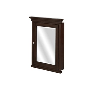 Fairmont Designs Shaker Americana 20-5/8 x 28-1/2 in. Semi-Recessed Mount Medicine Cabinet in Habana Cherry F1513MCR22