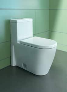 Duravit Starck 2 1.28 gpf Elongated Floor Mount One Piece Toilet in White D2133010005
