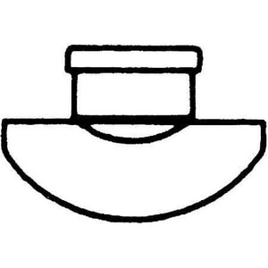 Multi-Fittings Corporation 8 x 8 x 4 in. Gasket Reducing SDR 35 PVC Sewer Saddle Tee with Strap and Ring MUL063124