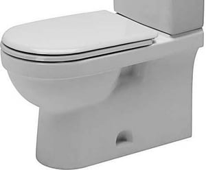 Duravit Happy D.2 1.28 gpf Elongated Two Piece Toilet in White D0112010062