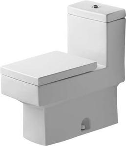 Duravit Vero 1.28 gpf Elongated Floor Mount One Piece Toilet in White D2103010005