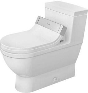 Duravit Starck 3 1.28 gpf Elongated Floor Mount One Piece Toilet in White D2120510001