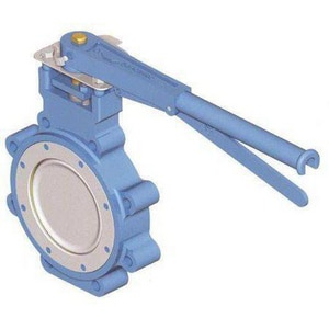 WKM DynaCentric® 14 in. Stainless Steel TFM Gear Operator Handle Butterfly Valve WB512302S0211WG14