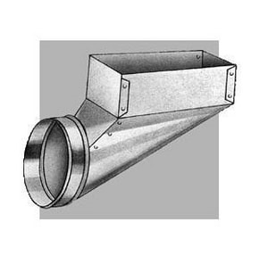 Royal Metal Products Model No. 244 4 in. Center End Flange Boot with Cord R244FRD610