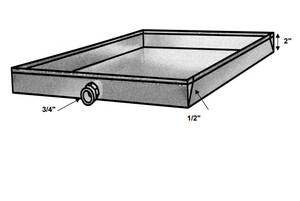 55 x 30 in. 24 ga Metal Drain Pan SHMDP243055