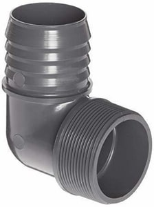 Multi-Fittings Corporation Trench Tough Plus™ 4 in. Barbed x Spigot Sewer Straight PVC 90 Degree Elbow for C900 Pipe MUL273663