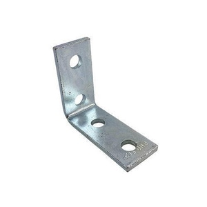 PHD Manufacturing 4-Hole Corner Angle Bracket Electro Galvanized Stainless Steel P5130EG