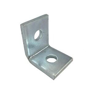 PHD Manufacturing 2-Hole Corner Angle Bracket Electro Galvanized Stainless Steel P5112EG