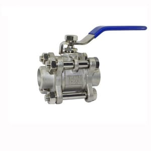 WKM 310 Series 3/4 in. Carbon Steel Full Port Socket Weld 3000# Ball Valve WB103CS248S2WRF