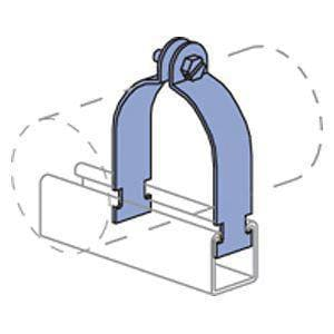 PHD Manufacturing 5-1/8 in. Electro Galvanized Tube Strut Clamp P2435EG518