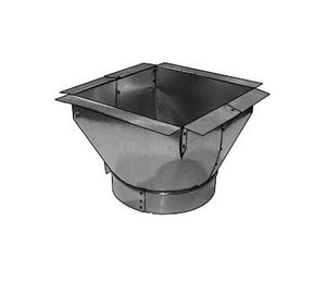 Royal Metal Products 9-1/4 in x 14 in x 14 in Duct Square-To-Round R241WF101010