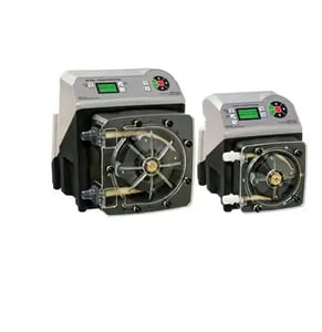 Blue-White Industries Flex-Pro™ 3/8 x 1/4 in. 242.4 gpd 65 psi OD x Tube Compression PVDF, PVC and Polyethylene Variable Peristaltic Metering Pump BA3V24S at Pollardwater