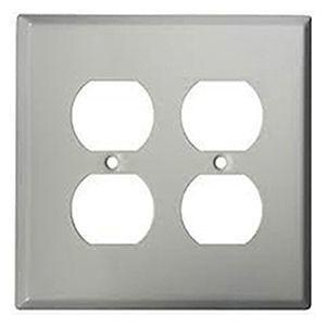 Mulberry Metal Products 2-Gang Stainless Steel Duplex Receptacle Plate M97102
