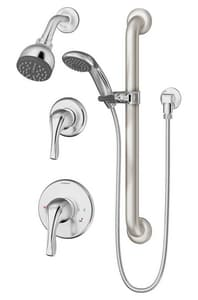 Symmons Industries Origins™ 2.5 gpm 1-Function Wall Mount Shower System Trim with Double Lever Handle in Polished Chrome SYMS9605PLRTRM