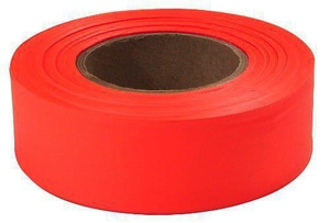Empire Level Plastic Flagging Tape in Orange E7700