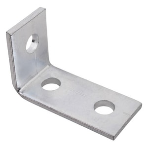PHD Manufacturing 0.58 lbs 3-Hole Electro Galvanized Corner Angle Bracket Stainless Steel P5120EG