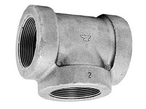 1 x 1/2 x 3/4 in. FNPT 125# Reducing Pressure Rated Black Cast Iron Tee BCITGDF