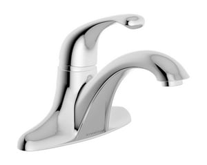 Symmons Industries Unity® 1.5 gpm 3-Hole Deck Mount Centerset Lavatory Faucet with Single-Handle, 3-3/8 in. Center Size and 5-3/4 in. Reach in Polished Chrome SYMS661015