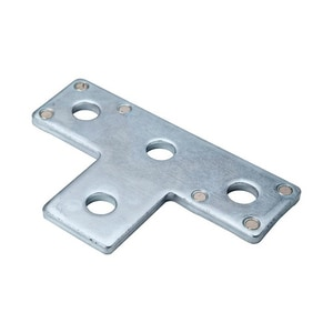 PHD Manufacturing 5-3/8 in. 4- Hole Electro-Galvanized Tee Plate P5035EG