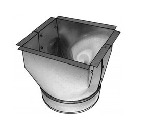 Royal Metal Products 10 x 8 in. Funnel Pan (Less Flange) R241PNF10108