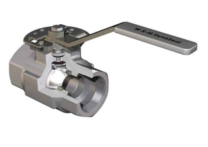 WKM 310 Series 4 in. 316 Stainless Steel Reduced Port Threaded 3000# Ball Valve WB136S843S2WRP