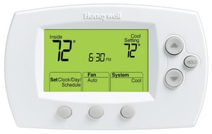 Honeywell Home FocusPro® 6000 1H/1C Conventional and Heat Pump Programmable Thermostat in Premier White HTH6110D1005