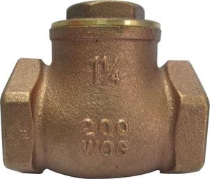 PROFLO® PFX31 4 in. Brass Threaded Swing Check Valve PFX31P at Pollardwater