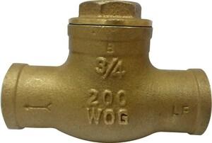 PROFLO® PFX31S 1-1/2 in. Sweat Brass In-Line Swing Check Valve (Sweat Connection) PFX31SJ at Pollardwater