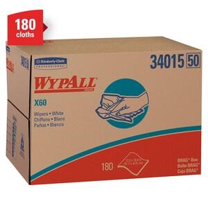 WypAll® X60 Heavy Duty Wipe in White (180 per Box) K34015 at Pollardwater