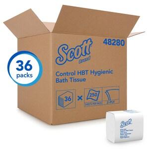 Scott® Kleenex® 8-3/10 x 4-1/2 in. 2-Ply Bathroom Tissue in White (Case of 36) K48280