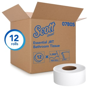 Scott® Scott® 1000 ft. x 3-11/20 in. 2-Ply Jumbo Tissue in White (Case of 12) K07805