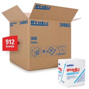 WypAll® X60 Brag Box Wipes in White (Box of 76) K34865