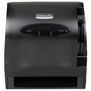 Kimberly-Clark Professional™ Lev-R-Matic® Automatic Lever Hard Roll Towel Dispenser in Smoke Grey K09765