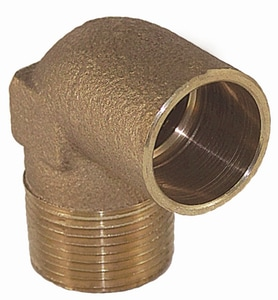 1/2 x 3/8 in. Copper x Male Brass 90 Degree Elbow CCM9DC