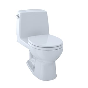 TOTO Ultimate® 1.6 gpf Round Floor Mount One Piece Toilet in Cotton TMS85311301