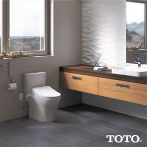 TOTO Washlet® Elongated Closed Front With Cover Bidet Seat in Sedona Beige TSW304612