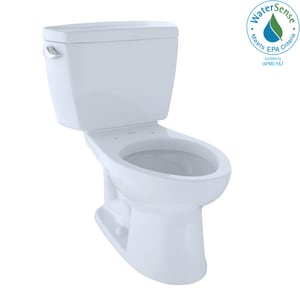 TOTO Eco Drake® 1.28 gpf Elongated Two Piece Toilet in Cotton TCST744E01