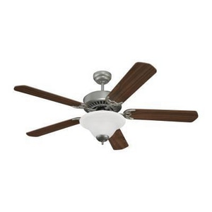 Seagull Lighting Quality Pro Deluxe 56W 5-Blade Ceiling Fan with 52 in. Blade Span and LED Light in Brushed Pewter S15160EN255