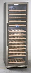 Avanti 23-1/2 in. Reversible Built-in Hinge Door Wine Cooler in Black with Stainless Steel AWCF154S3SD