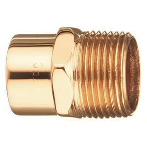 3/8 x 3/4 in. Copper x Male Adapter CMACF