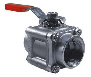 Worcester Controls Series 44 1 in. Carbon Steel NPT 1480# Ball Valve W4446PMSE