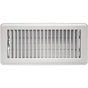 Accord Ventilation Products 4 x 8 in. Floor Register in White Steel A1010408WH