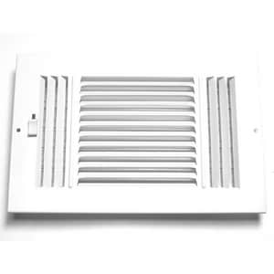 Accord Ventilation Products 12 x 8 in. Ceiling & Sidewall Register in White 3-way Steel A2031208WH