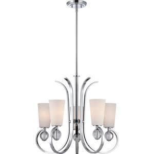 Quoizel Aldrich 24 in. 100W 5-Light Medium E-26 Base Chandelier in Polished Chrome QARH5005C