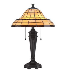 Quoizel 23 in. 75W 2-Light Table Lamp in Imperial Bronze QTF1803TIB