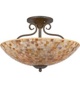 Quoizel Monterey Mosaic 4 Light Semi Flush Mount Ceiling Light In Malaga My1718ml Ferguson