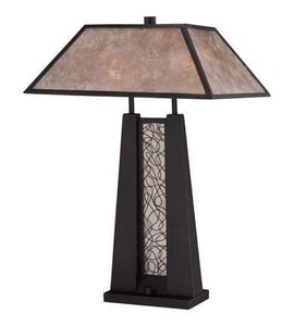 Quoizel 23-1/2 in. 75W 2-Light Table Lamp in Imperial Bronze QMC1689T
