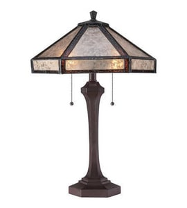Quoizel 24-1/2 in. 60W 2-Light Table Lamp in Russet QMC1796TRS