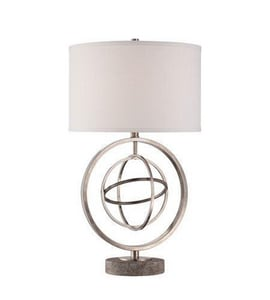 Quoizel 28 in. 150W 1-Light Table Lamp in Antique Nickel QQ1460TAN